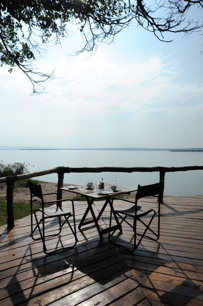 view across lake from akagera national park ruzizi tented lodge