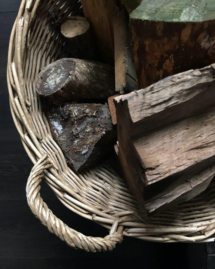 logs in a basket