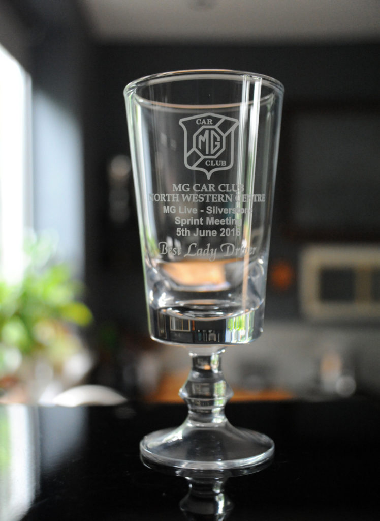 glass trophy for driving