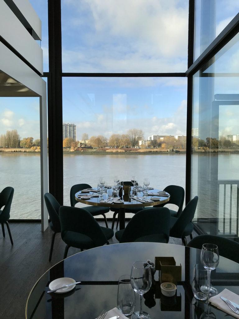view of antwerp river from RAS restaurant window