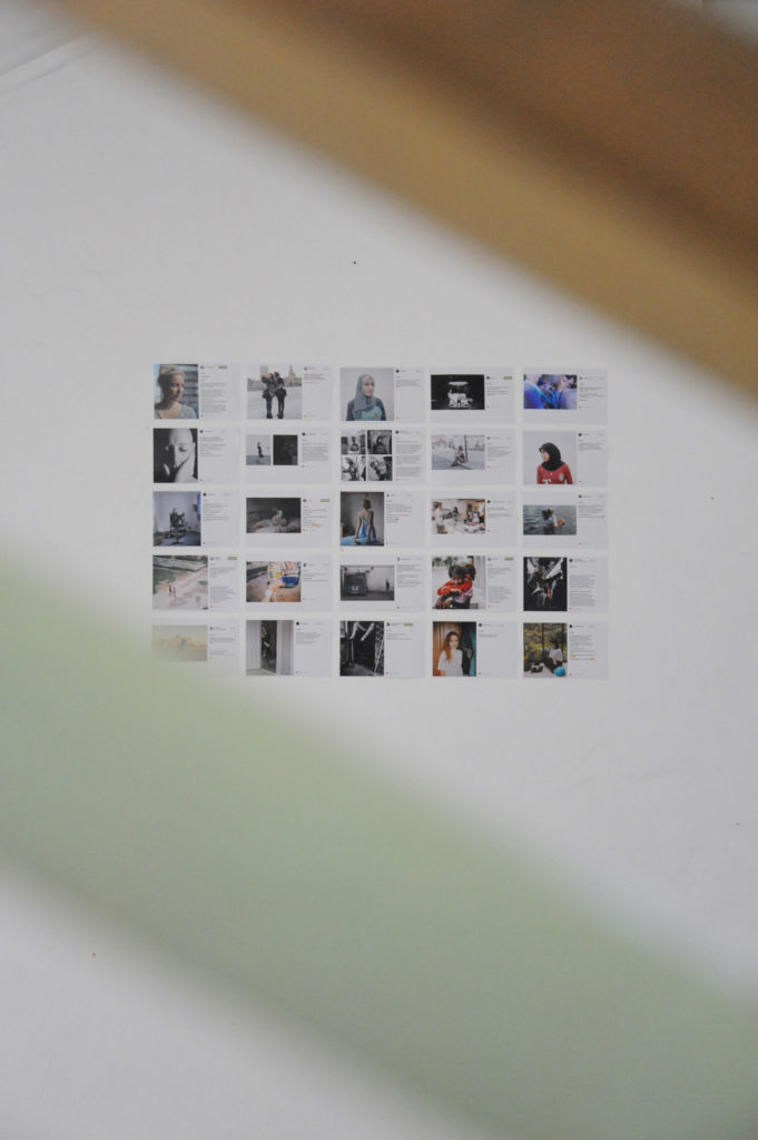 exhibition pictures on a wall