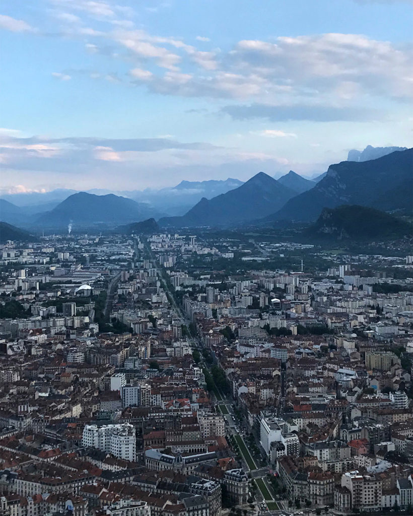 view of Grenoble from the Bastille