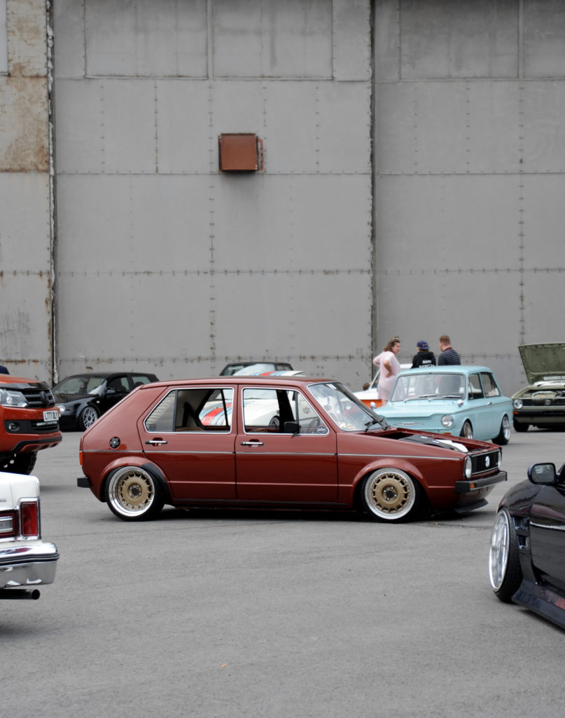 custom painted canyon red volkswagen golf mk1