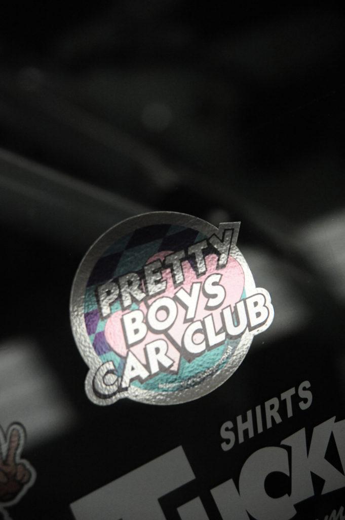 car sticker that reads Pretty Boys Car Club