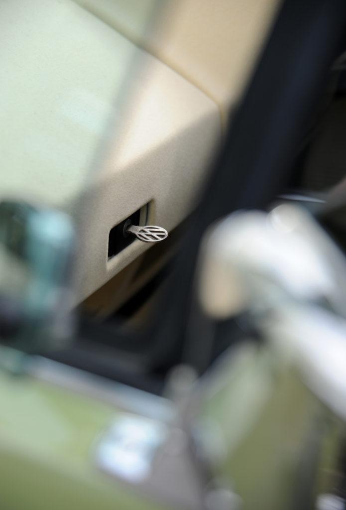 VW key in glove box through car window
